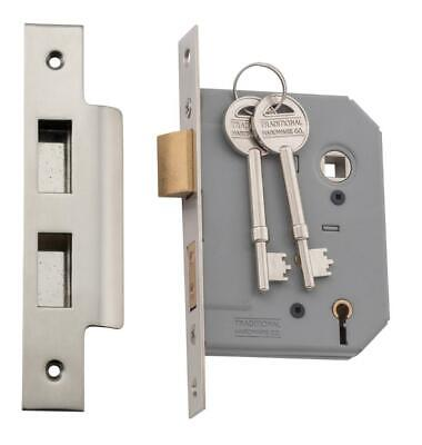Tradco 6169 6168 5 lever mortice lock satin nickel,57 or 46 mm backset