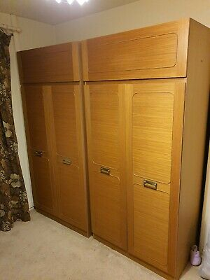 Art Deco  Antique Wardrobes - Set of wardrobes and dresser.Used.