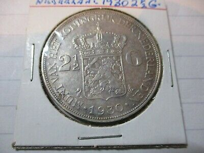 1930  NETHERLANDS    TWO & HALF  GILDER  EF   unit 2