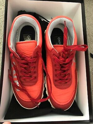 Chanel Red Sneakers 36.5 As New