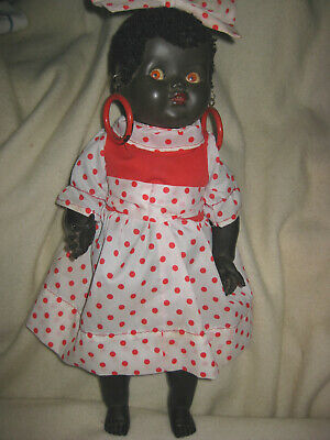 Black Palitoy Walking  Walker Doll- English -Flirty Eyes- Dressed
