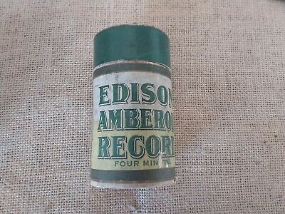 Vintage Empty Edison Amberol Record Cylinder Container.
