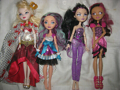 4 Gorgeous  Ever After High Dolls -  Pretty Girls With Outfits
