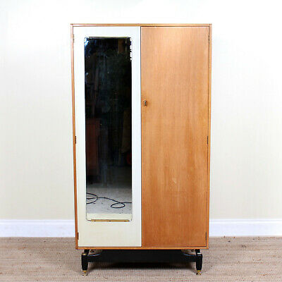 Vintage G Plan Oak Wardrobe E Gomme China White Gents Compactum Mirror