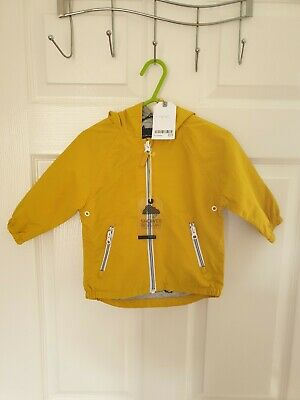 BNWT Next Yellow Shower Resistant Coat Baby Boy  9-12 Months RRP £23