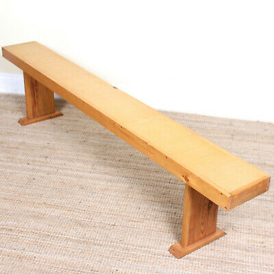 Vintage Bench School Gym Console Table