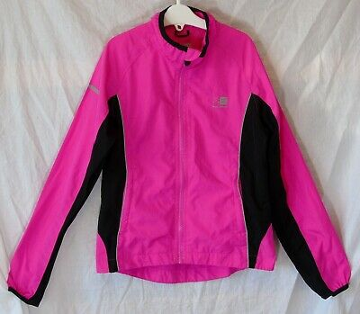 Girls Karrimor Neon Pink Black Spring Summer Lightweight Jacket Age 9-10 Years
