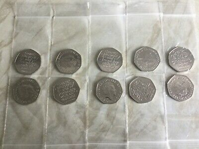 10 x Brexit 50p. All coins uncirculated - taken from sealed bag.