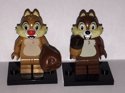 GENUINE - Lego Minifigure - Disney - Chip and Dale & Bases - Series 2