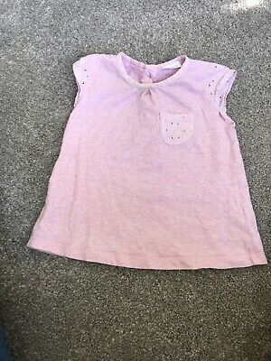 Baby Girl Pink Top Tshirt Next 9-12 Months