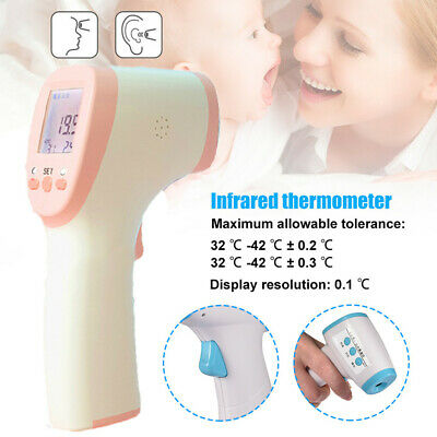 IR Infrared Digital Forehead Fever Thermometer Non-Contact Baby / Adult Body Hot