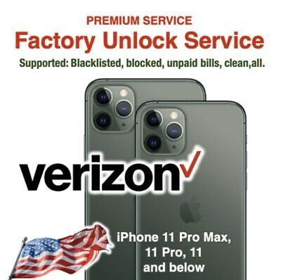 Verizon Unlock Premium Service USA iPhone 11 Pro Max and below SUPER FAST 1 DAY