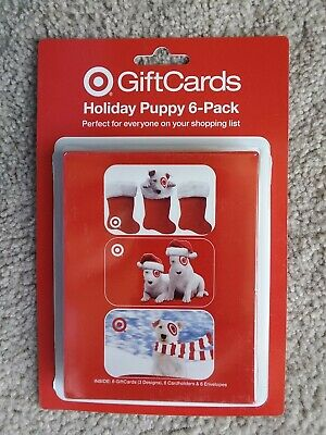 2005 Target HOLIDAY PUPPY PACK Gift Cards + Card Holders + Envelopes No Value