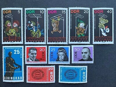Stamps Germany DDR 1964 Children's Day, others. 11 stamps. Mint never hinged