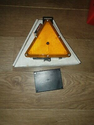Sign Road Flash amber Emergency Warning triangle Reflective steam engine trailer
