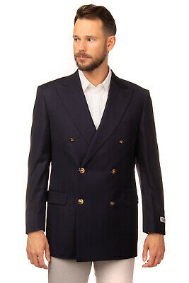 RRP €965 PAL ZILERI Wool Blazer Jacket Size 62 4XL Double Breasted Made in Italy