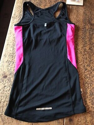 Karrimor Running Top And Bottoms Ladies Size 8 Black Pink Never Used