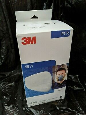 (10 pairs) 3M 5911 Particulate Filter P1 R EXP:09/2024