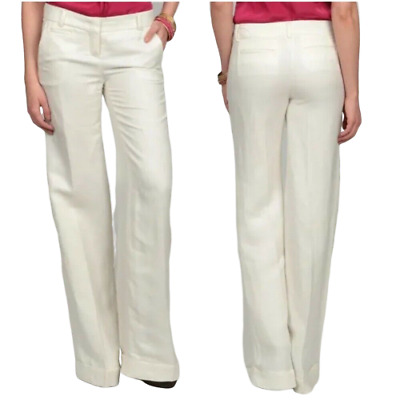 Jessica Simpson Size 9/10 Dream Chaser Wide Leg Pants 100% Linen NWT$79