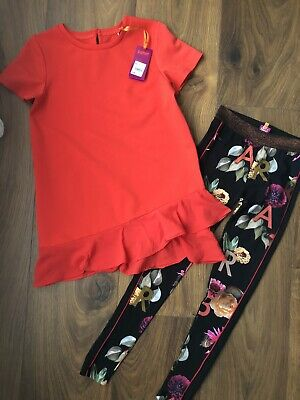 New Ted Baker Girls 2pcs Outfit Set Top & Leggings Size 12-13 Years Rrp£39