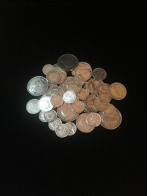 Joblot Sterling Silver Coins Pre 1946 Different Types Antique Collectible