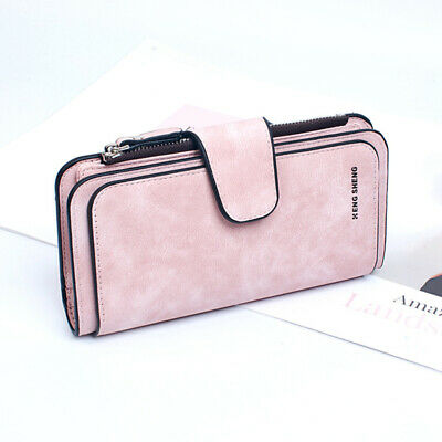 1pc PU Leather Wallet Long Type Cell Phone Pouch Card Pack Purse for Girls Women