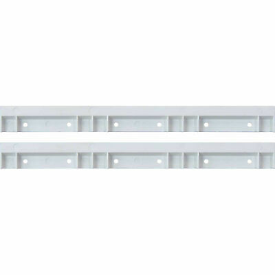 Plastic White Rails For Hang and Stack Bins, Price for Pack of 2