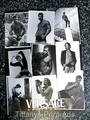 VERSACE  *  Shirtless  ABS Male Models  MENS UNDERWEAR Vintage Fashion Print AD