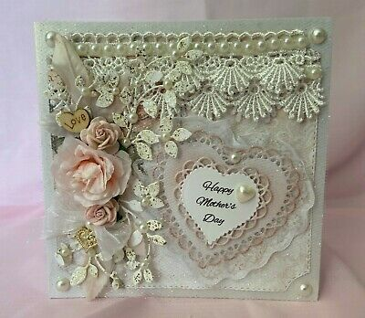 Handmade Mother's Day Card - 3D Floral Shabby Chic
