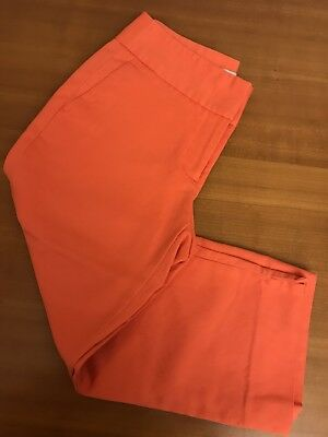 **AWESOME** Women's Laura Ashley SLIM CROPPED PANTS: CORAL (4)
