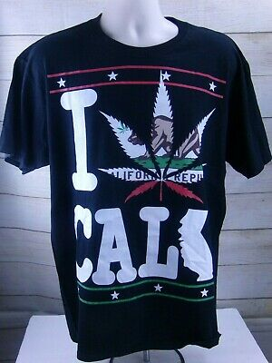 California Republic Flag Bear And Star- Cali Pride Statements Shirt Size Large