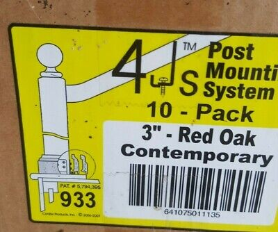 """4Js Newel Post Fastener Mounting System 3"""" Red Oak Contemporary Molding"""