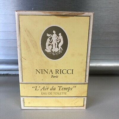 Vintage Large Nina Ricci Paris L'air Du Temps Eau De Toilette France 100cc