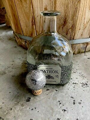 One Empty 1 Liter 2019 Limited Edition Patron Silver Tequila Bottle  VIP CLUBS.