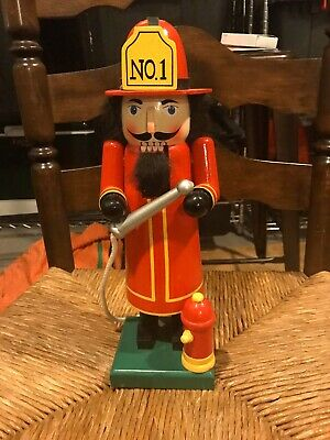Fireman 14 inch Wooden Gingerbread Nutcracker