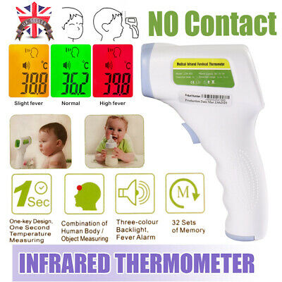 Thermometer LCD Digital Infrared Forehead Non-touch Baby Adult Temperature Gun