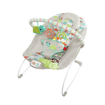 Bright Starts Happy Safari Baby/Infant Bouncer Rocking/Chair Toys Lullaby/Music