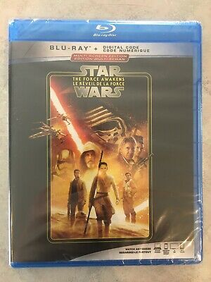 Star Wars The Force Awakens Blu-Ray Canada Bilingual NO DC LOOK