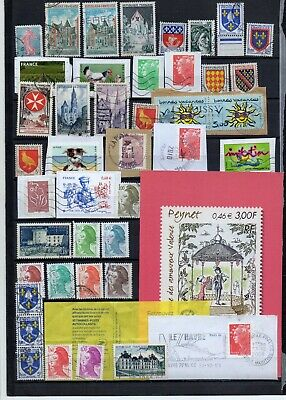 A50 FRANCE LOT une PAGE ALBUM timbres OBLITERES