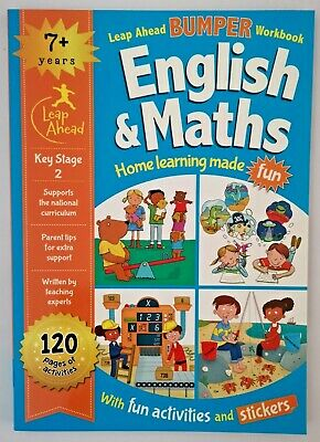 Leap ahead Maths and English Bumper Workbook KS2 Ages 7+ New!!!!