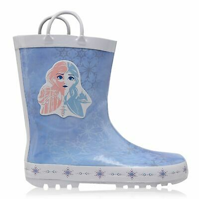 Character Disney Frozen Elsa Kids Girls Wellies Boots Pull On Wellingtons