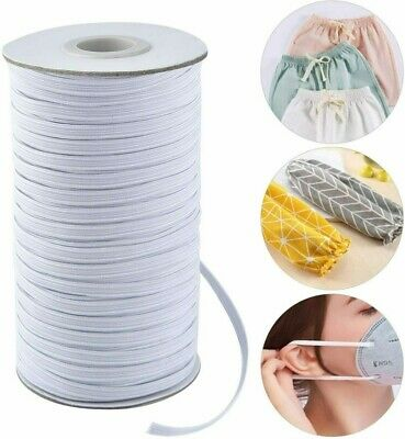 100 Yards Braided Elastic Band Cord Knit Band Sewing 1/8 1/4in DIY-Mask