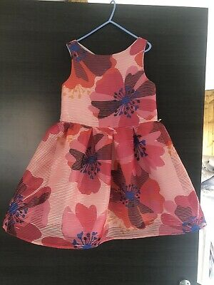 Girls Jasper Conran Pink Floral Party/Occasion/Dress Age 5-6