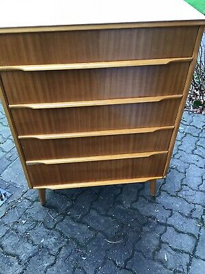 Vintage /Retro Mid Century Teak Chest Of Drawers / Tall Boy