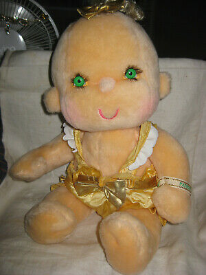 Vintage 1985 Hallmark Hugga Bunch Patooty Doll - Gold Dress Plush