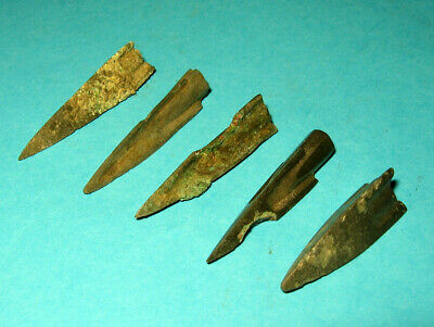 5 pcs Ancient Bronze Arrowheads 5-3 century BC Ancient Greece m1