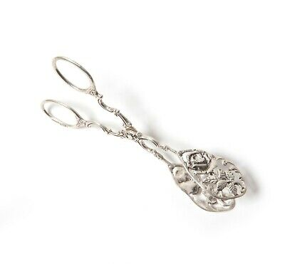 "Silver pastry tongs (pastry server). ""Rose of Hildesheim"". Gewe Silvervarufabrik"