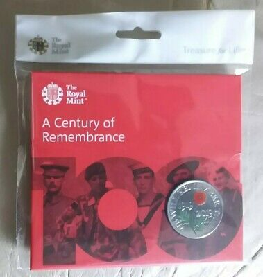 1919 - 2019 Royal Mint A Century Of Remembrance £5 Five Pound Coin Bunc Pack Iwm
