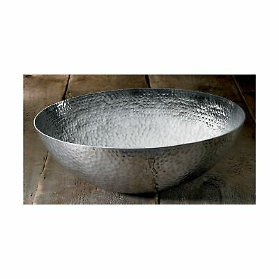 "20"" Large Hammered Aluminum Bowl by KINDWER"