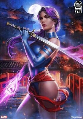 Sideshow X-Men PSYLOCKE Premium Art Print by Ian MacDonald Sold Out New 143/275